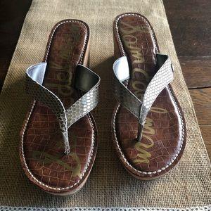 Sam Edelman Sz 10 ROMY Cork Wedge Sandals A5-1467